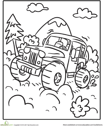 transportation coloring page off road vehicle coloring