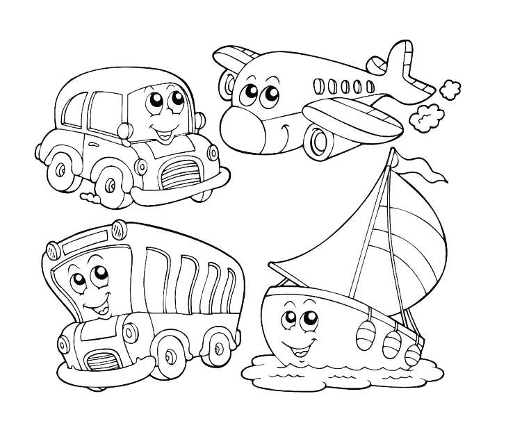 transportation coloring pages for kindergarten