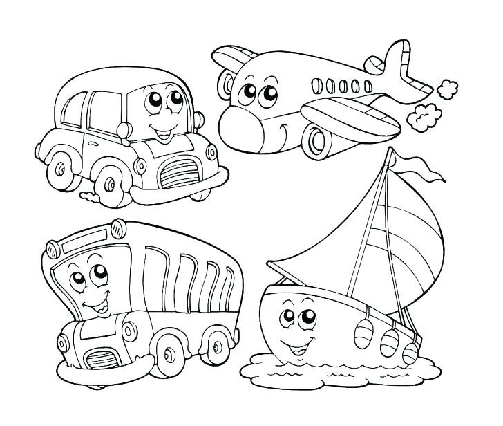 transportation coloring pages for kindergarten