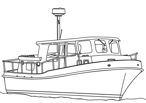 trawler boat coloring page free printable coloring pages