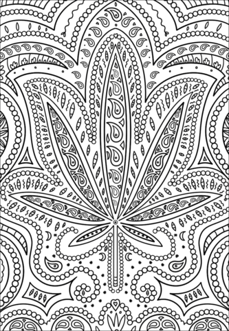 trippy weed coloring page free printable coloring pages