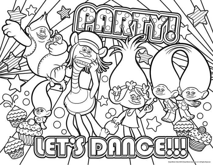 trolls coloring sheets to print pusat hobi