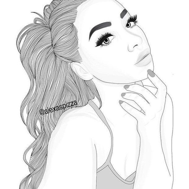 tumblr coloring pages of girls