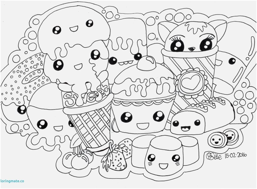 undertale coloring pages pics kawaii food coloring pages