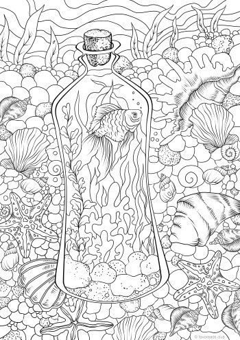 underwater free adult coloring pages adult coloring book