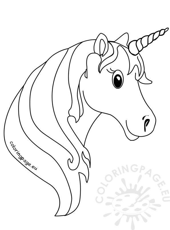 unicorn face coloring pages for kids coloring page