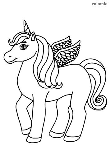 unicorns coloring pages free printable unicorn