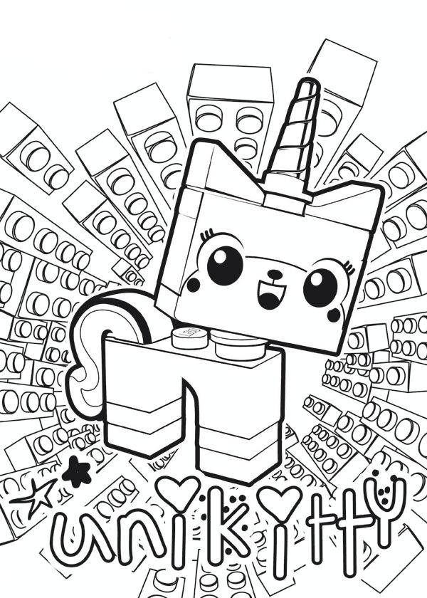 unikitty lego coloring pages at getdrawings free for