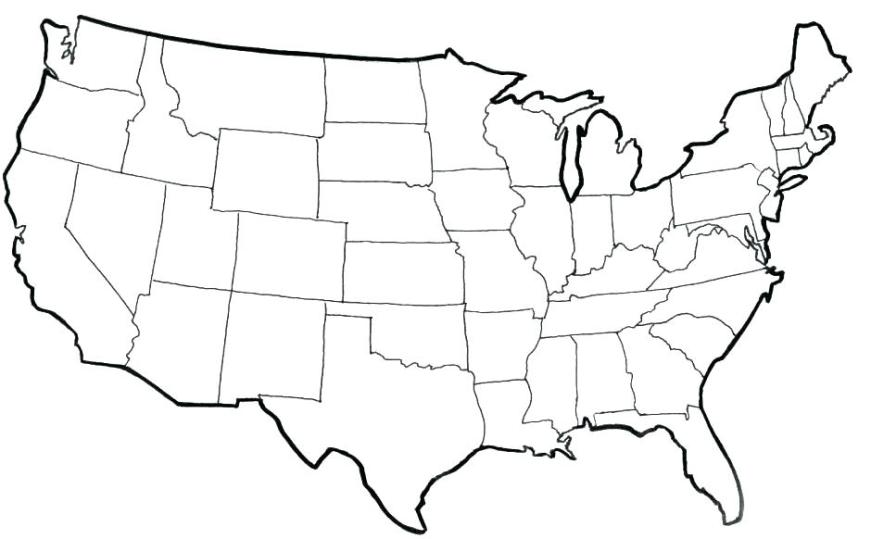 usa coloring pages us states map kitecclub