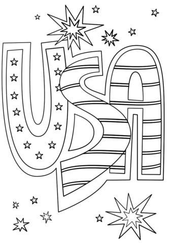 usa doodle coloring page free printable coloring pages