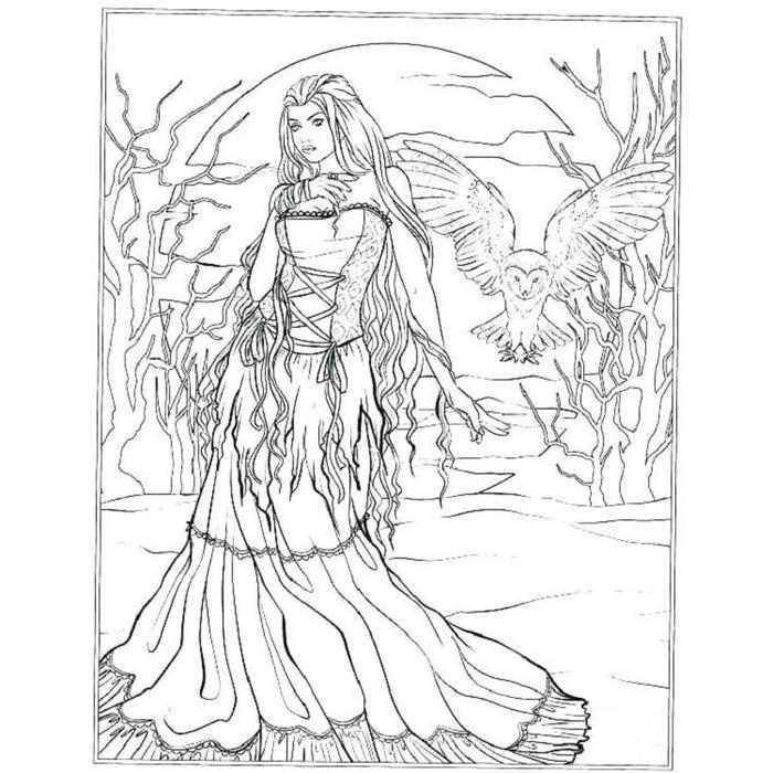 vampire gothic fairies coloring pages fun for kids