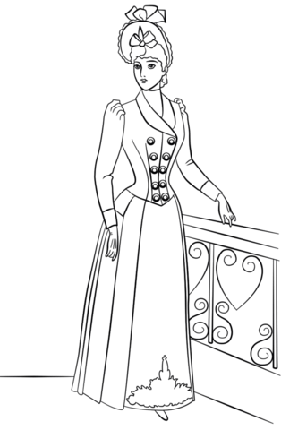 victorian fashion coloring page free printable coloring pages
