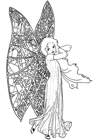 vintage fairy coloring page free printable coloring pages