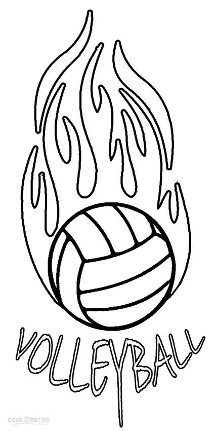 volleyball coloring book picture pusat hobi