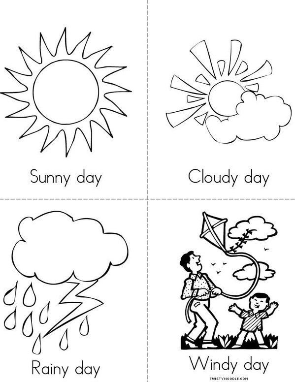 weather color page preschool weather weather books