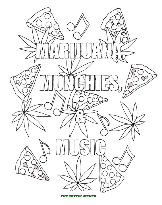 weed coloring pages for adults