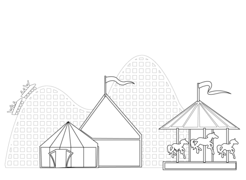 welcome to the circus coloring page free printable