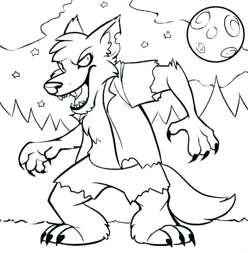 werewolf coloring pages goosebumps cangkemclub