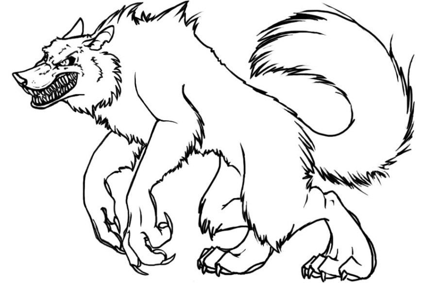 werewolf coloring pages printable coloring pages