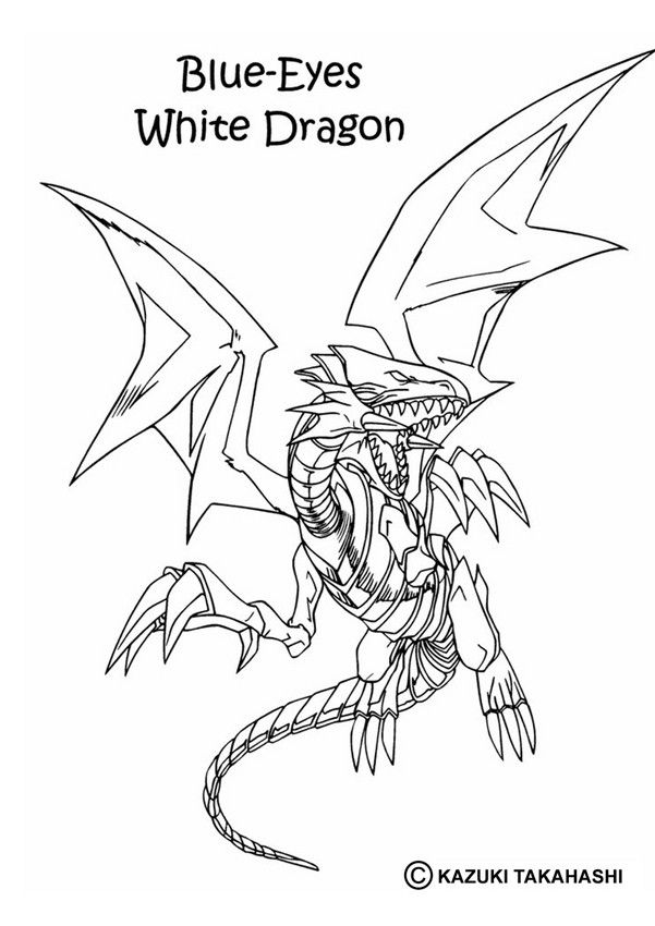 white dragon coloring page more yu gi oh content on