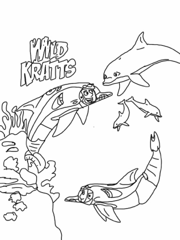 wild kratts coloring pages to print coloring page