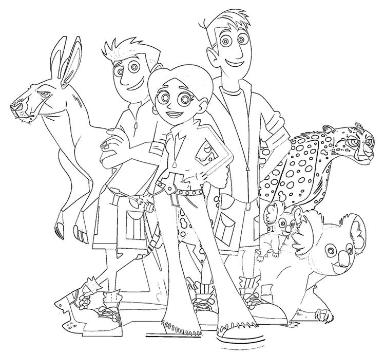wild kratts coloring pages to print fun for kids