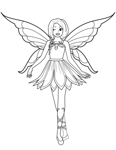 winking fairy coloring page free printable coloring pages