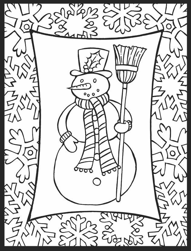 winter holiday coloring pages printable at getdrawings