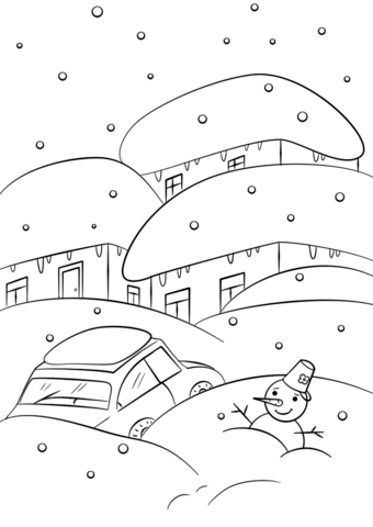 winter weather coloring page free printable coloring pages