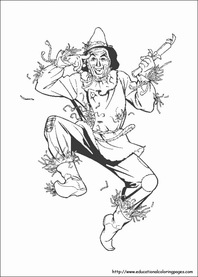 wizard of oz coloring book fresh scarecrow in free wizard of