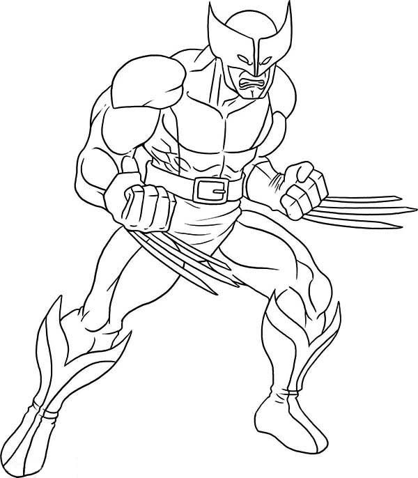 wolverine 3 superhero coloring superhero coloring pages