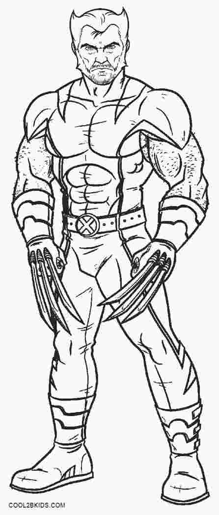 wolverine cartoon coloring pages huangfei