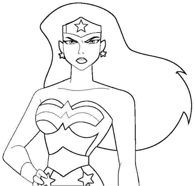 wonder woman coloring pages free superhero wonder woman