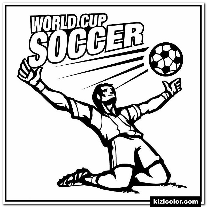 world cup soccer kizi free coloring pages for children