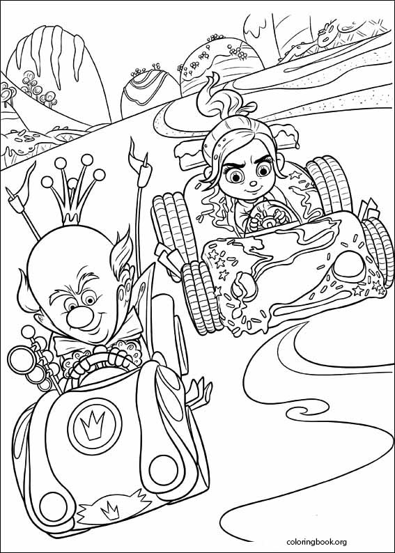 wreck it ralph coloring page 054 coloringbook