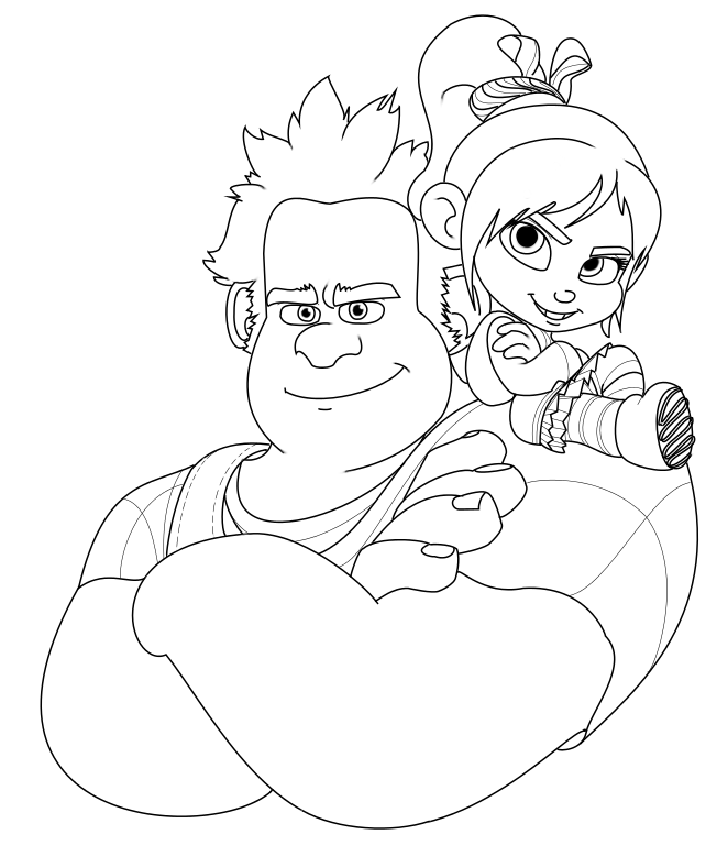 wreck it ralph coloring pages disney coloring pages
