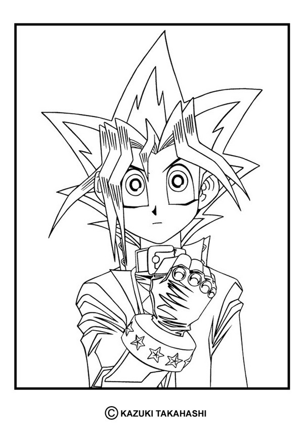 yu gi oh 4 coloring pages hellokids