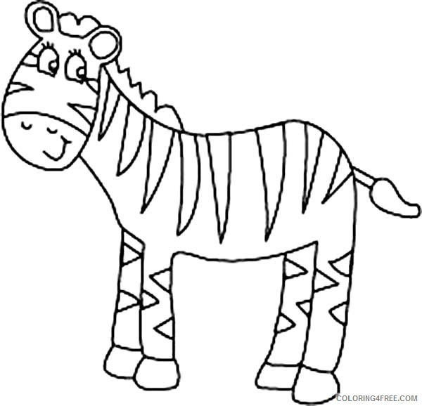 zebra coloring pages for preschooler coloring4free