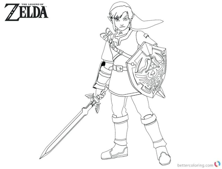 zelda coloring book printable pusat hobi