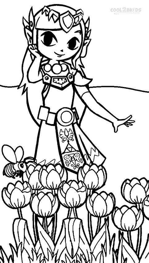 zelda coloring pages to print pusat hobi