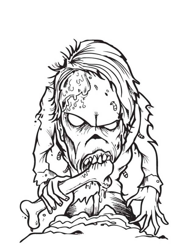 zombie coloring pages to print