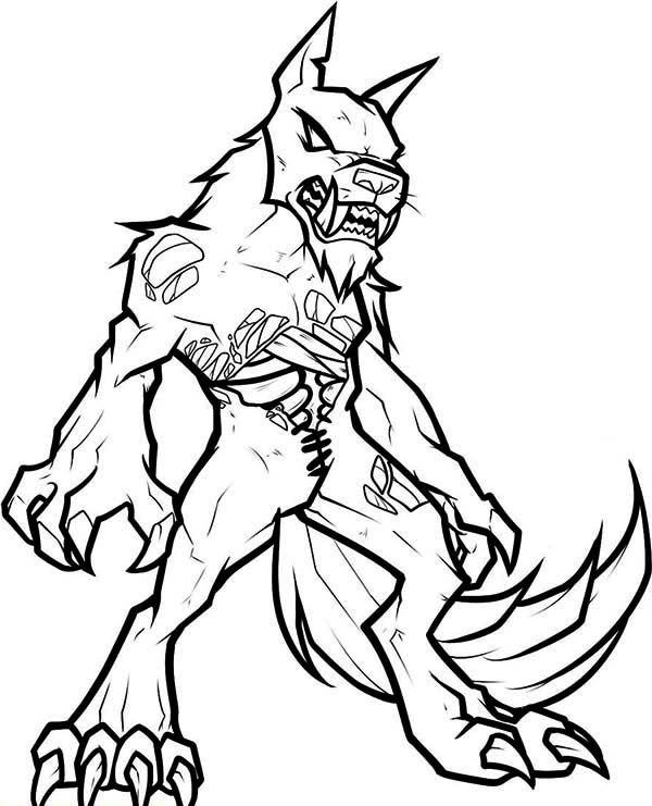 zombie werewolf coloring page coloring pages for girls