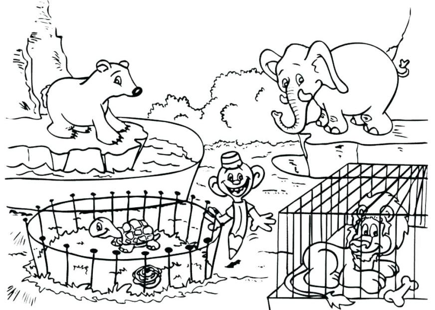 zoo animal coloring pages free printable