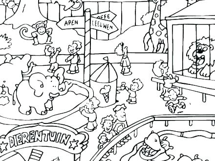 zoo coloring pages for kids at getdrawings free for