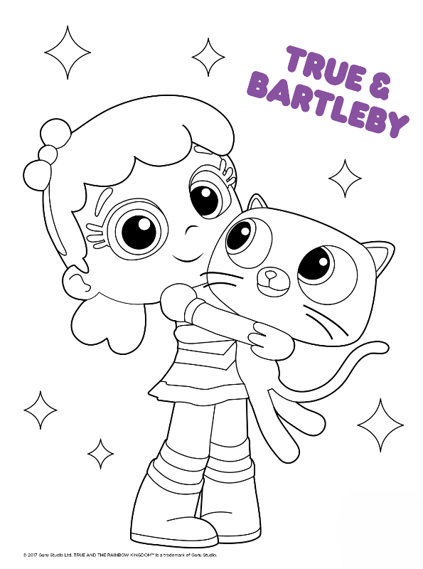 kids n fun coloring page true and the rainbow kingdom