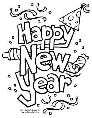2011 happy new year coloring pages disney coloring pages
