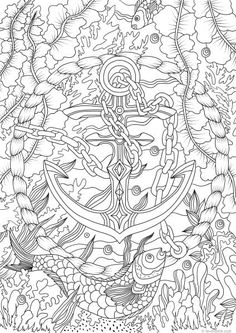 398 best under the sea coloring pages for adults images
