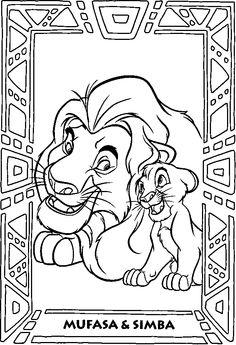 7 meilleures images du tableau le roi lion coloring