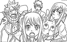 81 best fairy tail coloring pages images fairy tail