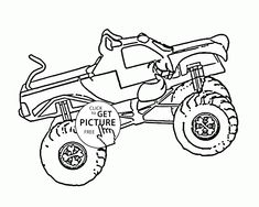 86 best monster truck coloring pages images monster